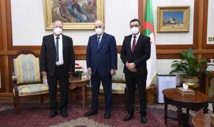 Trois partis politiques chez le président de la République Tebboune