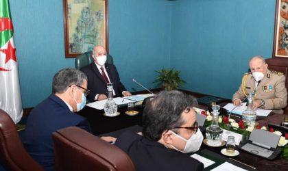 Tebboune préside une réunion périodique du Haut Conseil de sécurité : situation générale du pays à l'ordre du jour