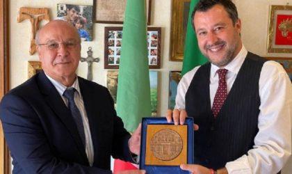 L'ambassadeur d'Algérie à Rome rencontre l'ancien ministre de l'Intérieur Matteo Salvini