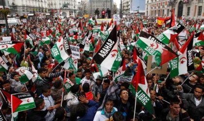 Espagne : marche pour le droit du peuple sahraoui à l'autodétermination