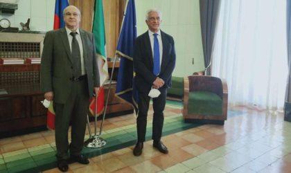 Business et communauté nationale au menu de la visite de l'ambassadeur Boutache à Salerne