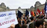 Manifestation et grève contre la vaccination obligatoire des soignants à Marseille