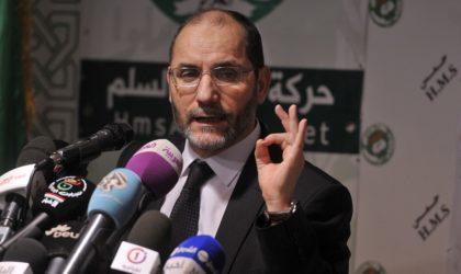 L'islamiste Mokri et son parti sont un danger pour l'Algérie