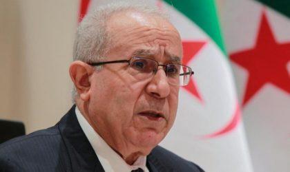Déclaration de Ramtane Lamamra annonçant la rupture des relations diplomatiques avec le Maroc