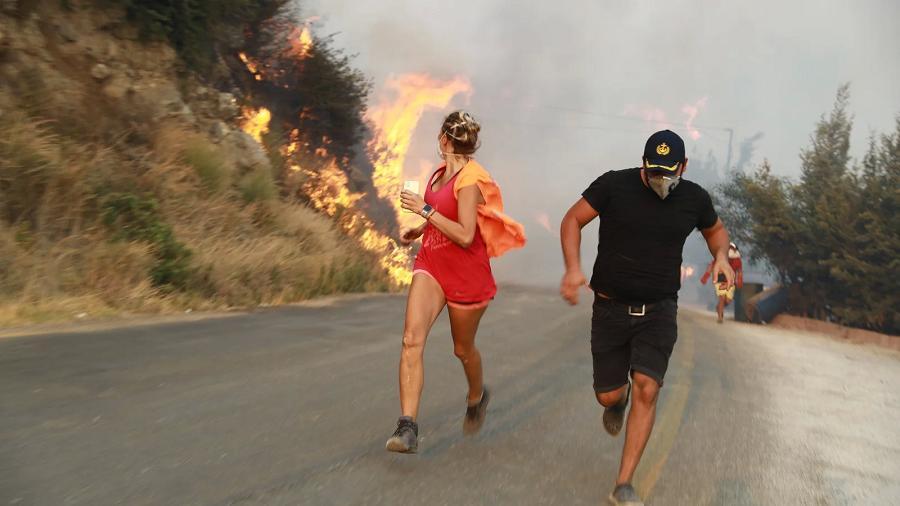 Turquie série d'incendies