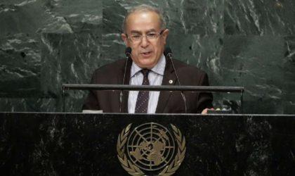 Sahara Occidental, Palestine et Golan : Lamamra met l'ONU devant ses responsabilités