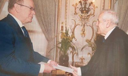 Mohamed-Antar Daoud présente ses lettres de créances au Prince Albert II de Monaco