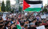 Manifestation à Ramallah pour la libération des prisonniers en grève de la faim